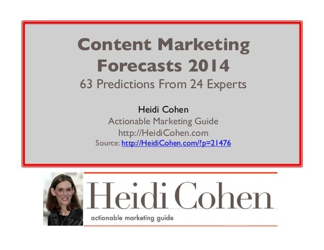 2014 Content Marketing Forecasts