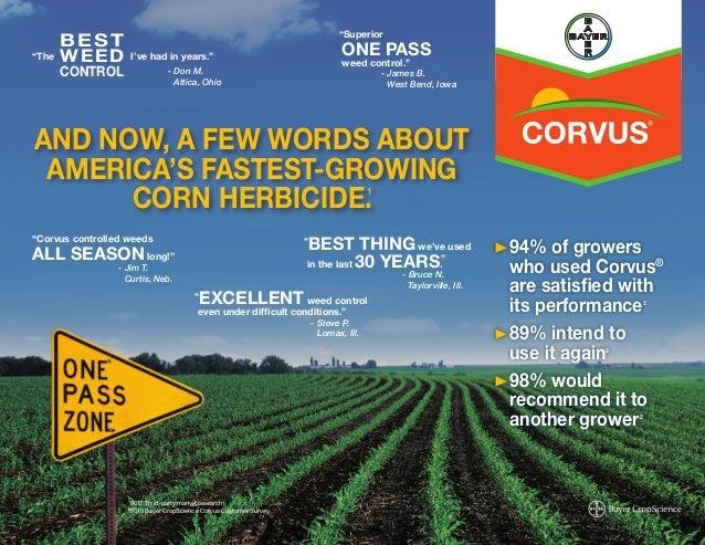 2014 Corvus® & Capreno® Corn Herbicides Testimonial