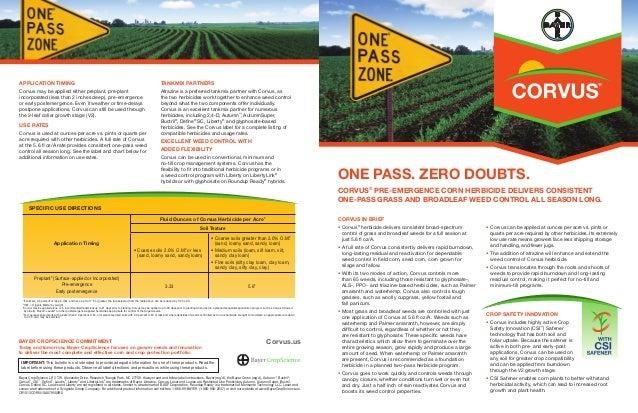 2014 Corvus® Pre-emergence Corn Herbicide Product Bulletin