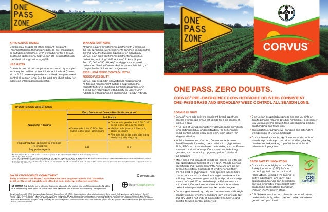 2014 Corvus® Pre-emergence Corn Herbicide Product Bulletin