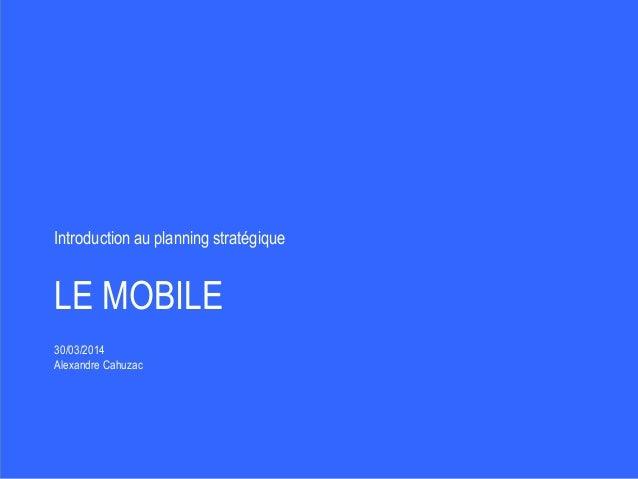 Introduction aux stratégies de communication sur mobile