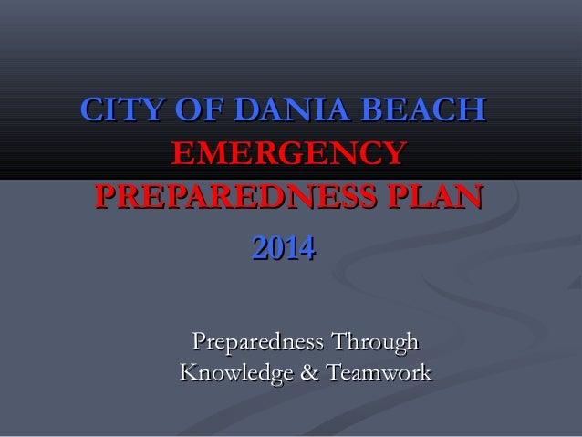 2014 Dania Beach Hurricane Preparedness Presentation