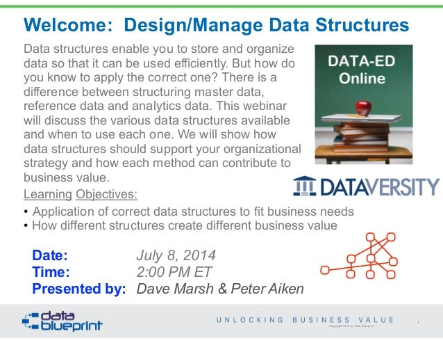 Data structures enable you to store and organize