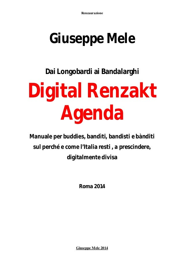 Digital Renzakt Agenda