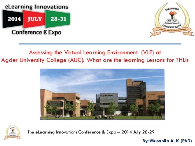 2014 e learning innovations conference musabila assessing the virtual learning environment   auc 2.0