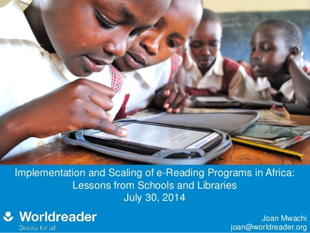 2014 e learning innovations conference world reader mwachi leap project results