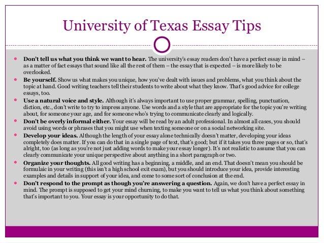 Essay topic a ut austin transfer