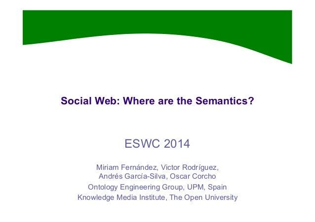 ESWC 2014 Tutorial part 2