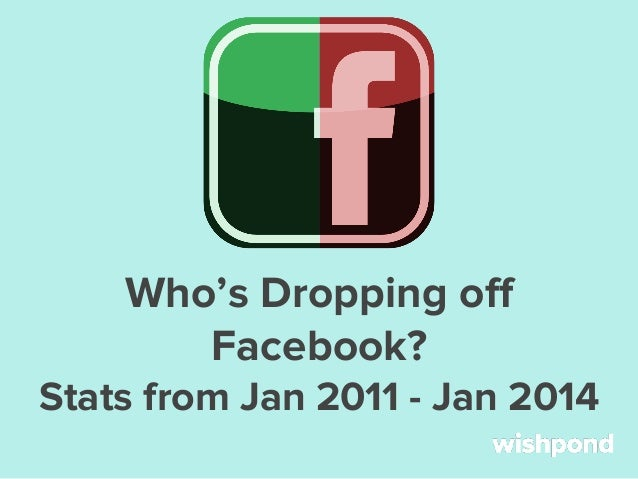 Who's Dropping off Facebook? Stats from Jan 2011 - Jan 2014