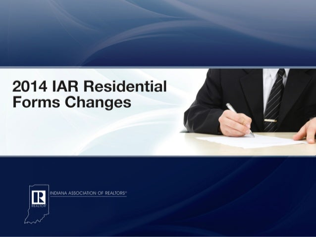 2014 IAR Residential Forms Changes