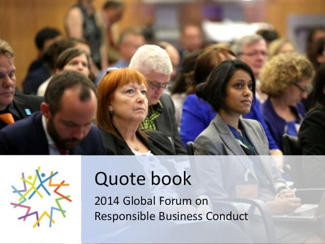 Quote book 2014 Global Forum on Responsible Business Conduct