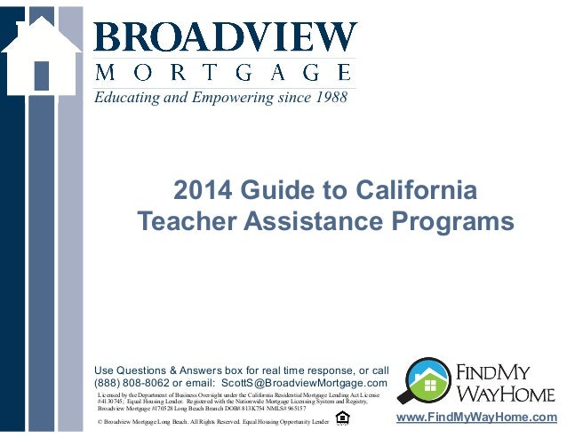 Educating and Empowering since 1988  !  2014 Guide to California Teacher Assistance Programs  Use Questions & Answers box ...