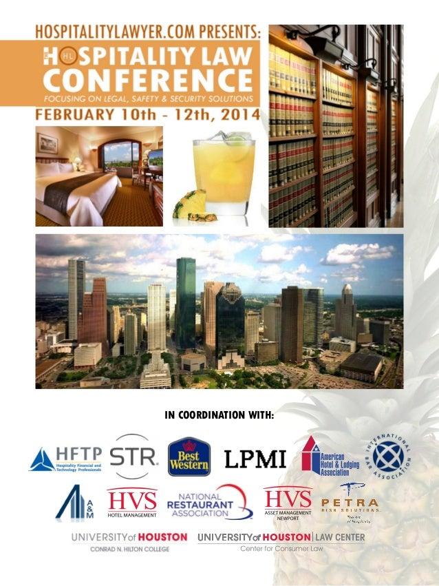 HospitalityLawyer.com | 2014 Hospitality Law Conference Brochure