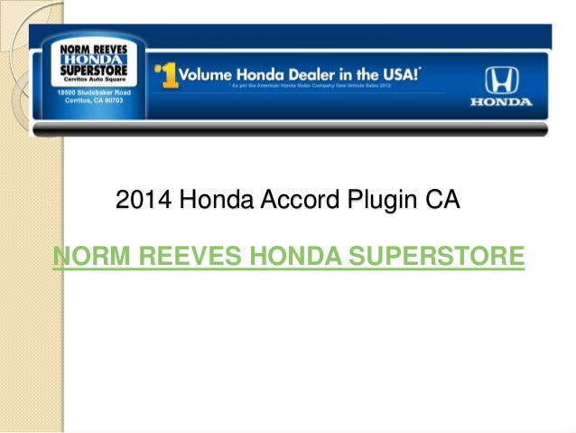 2014 Honda Accord Plugin CANORM REEVES HONDA SUPERSTORE