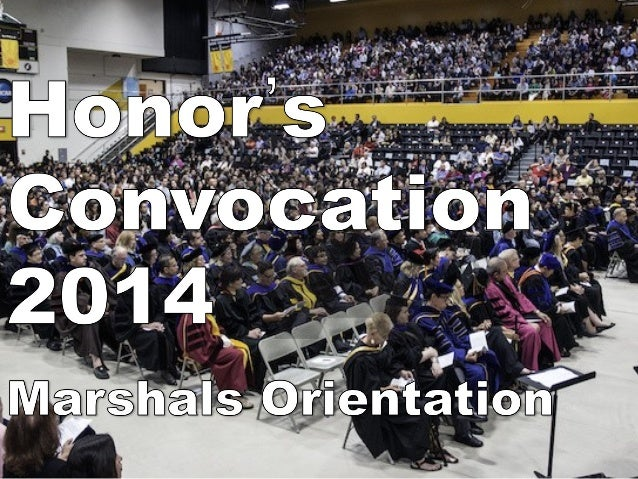 2014 honors convocation