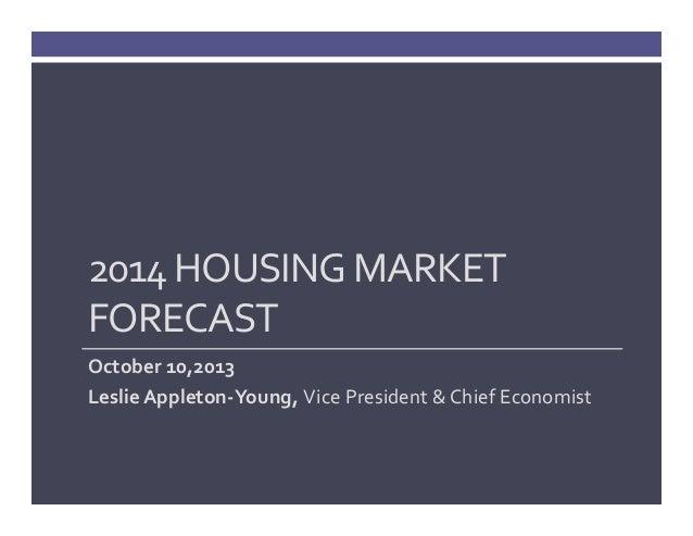 2014 Housing Market and Economy Forecast