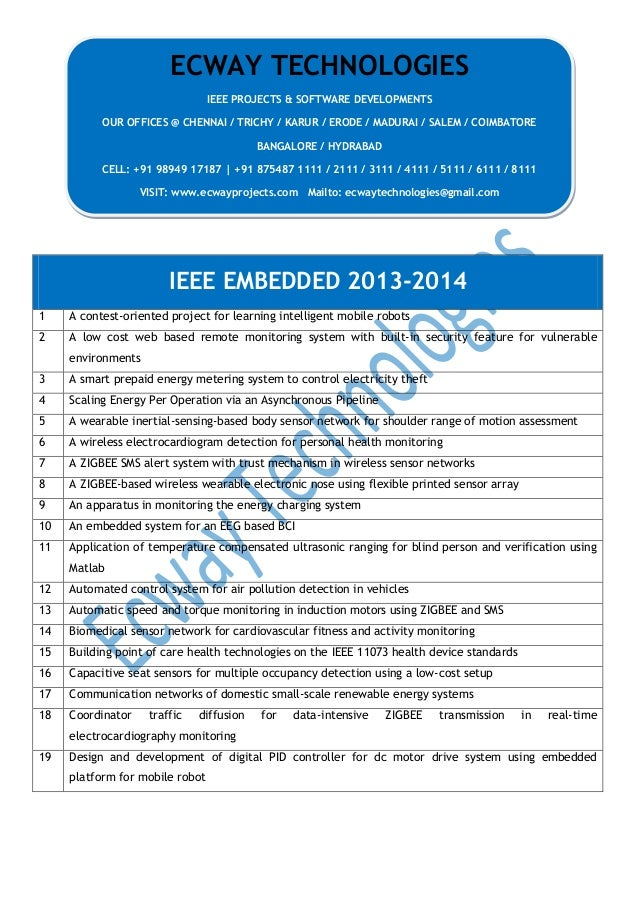 2014 ieee embedded projects