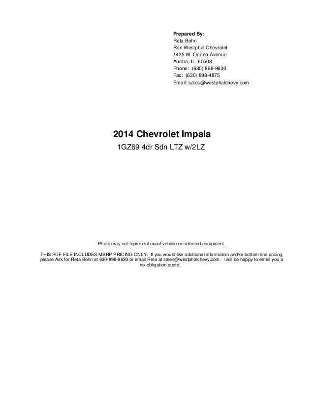 2014 Chevy Impala 2LZ trim