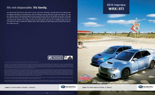 2014 Subaru Impreza Wrx Amp Sti Brochure