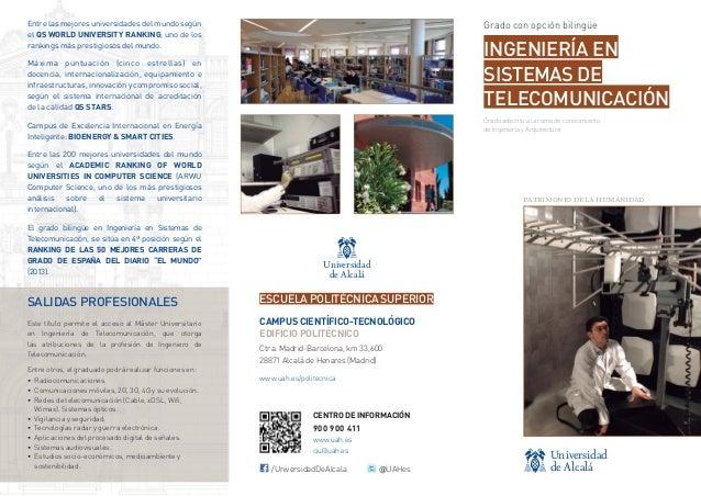 Ingeniería y Arquitectura - Grado en Ingeniería de Sistemas de Telecomunicación