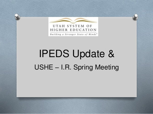 Spring 2014 IPEDS workshop