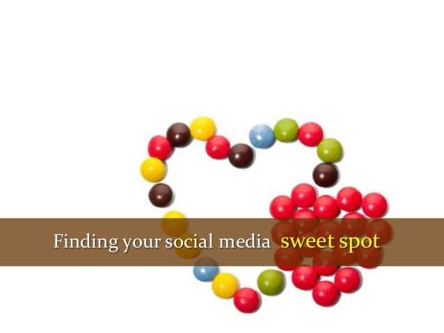 Finding your social media sweet spot