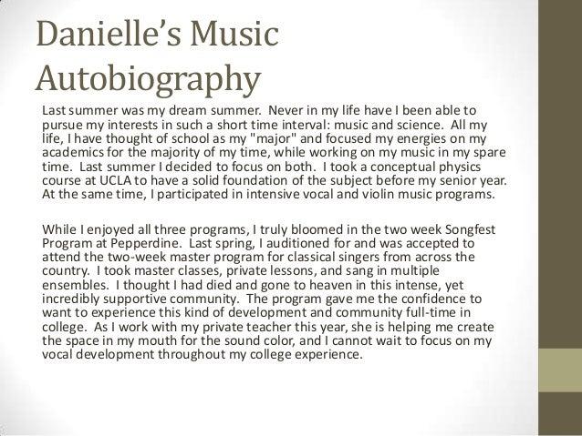 musical autobiography essay