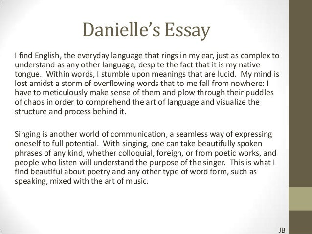 English Essay Example Me Myself And I Sample Essay For College
