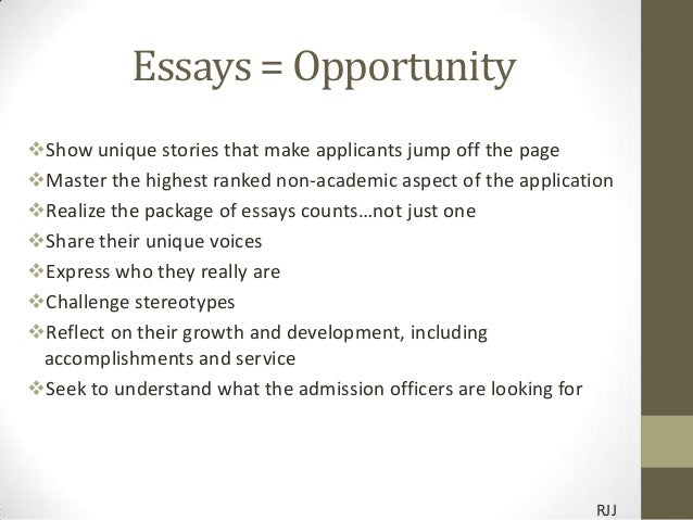 What makes you unique college essay