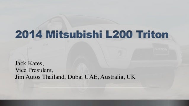 Mitsubishi L200 Triton - New and Used Diesel Pickup Truck from Thailand, UK, Australia and Dubai UAE RHD LHD