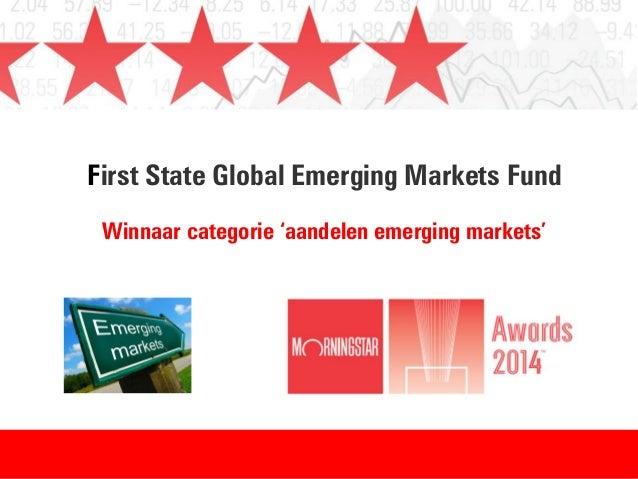 First State Global Emerging Markets Fund Winnaar categorie 'aandelen emerging markets'