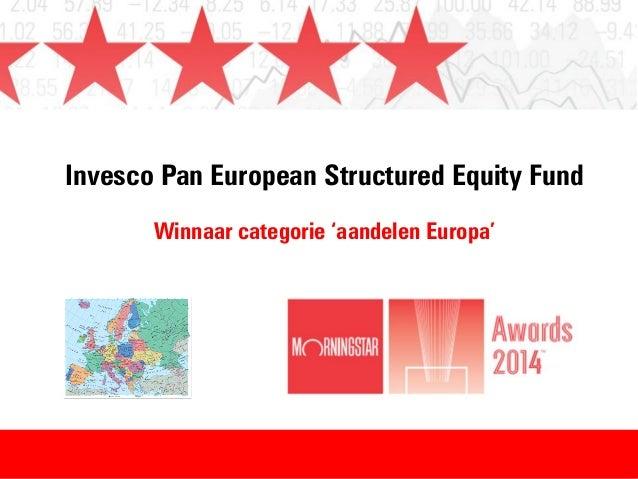 Winnaar Morningstar Awards 2014 - categorie: aandelen Europa