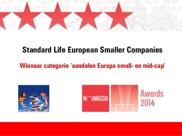 Winnaar Morningstar Awards 2014 - categorie aandelen Europa small- en mid-cap