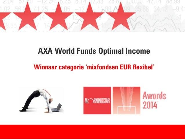 AXA World Funds Optimal Income Winnaar categorie 'mixfondsen EUR flexibel'