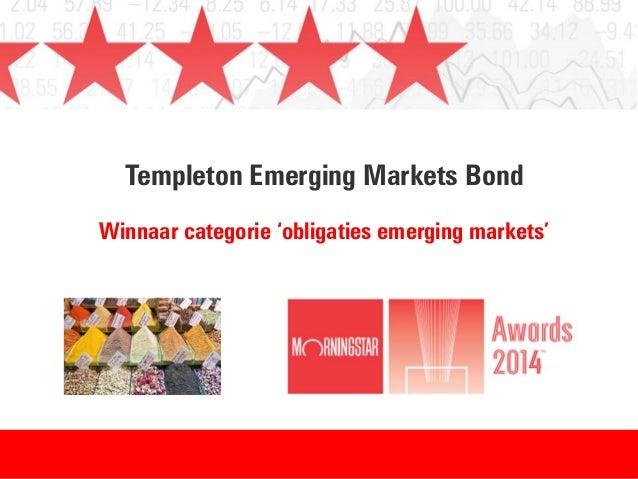 Templeton Emerging Markets Bond Winnaar categorie 'obligaties emerging markets'
