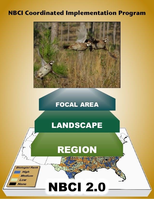 NBCI Coordinated Implementation Program FOCAL AREA LANDSCAPE REGION NBCI 2.0