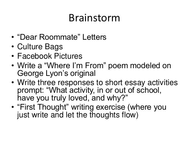 Interesting essay prompts
