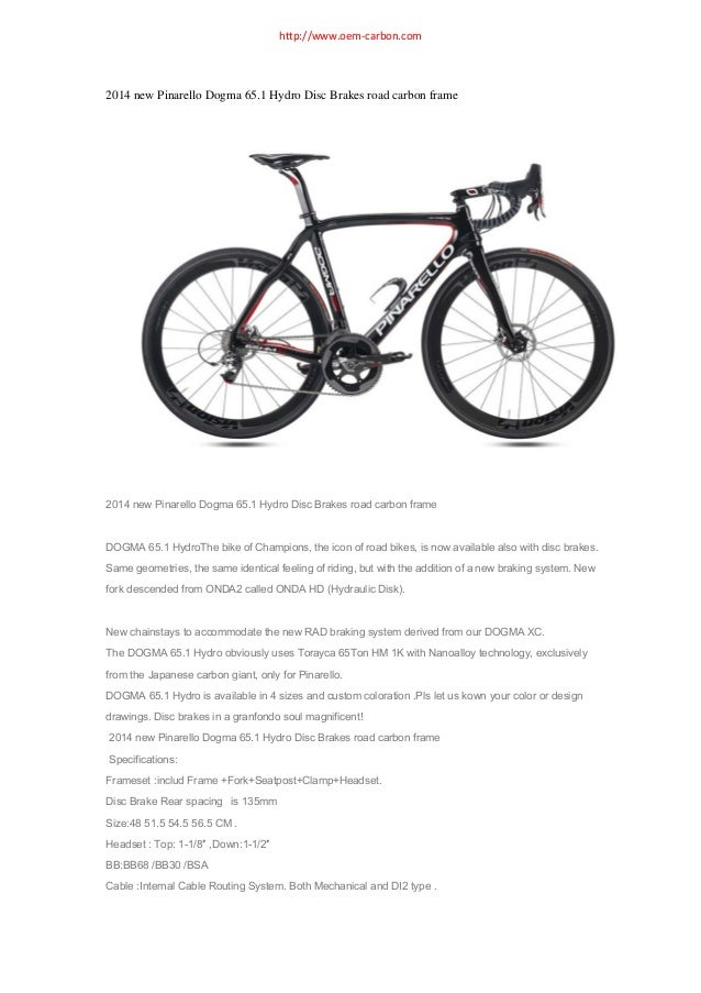 2014 new pinarello dogma 65.1 think 2 hydro disc brakes road carbon frame review
