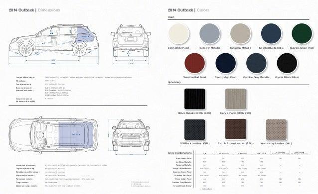 2014 Subaru Outback Brochure