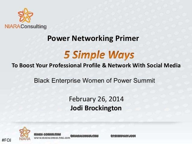 Power Networking Primer - BEWPS