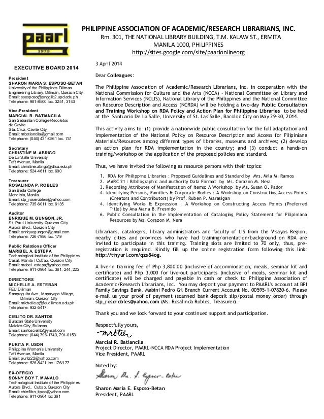 2014 rda invitation letter to participants in bacolod seminar