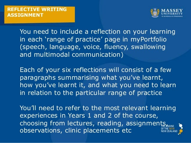 REFLECTIVE WRITING ASSIGNMENT     SlideShare