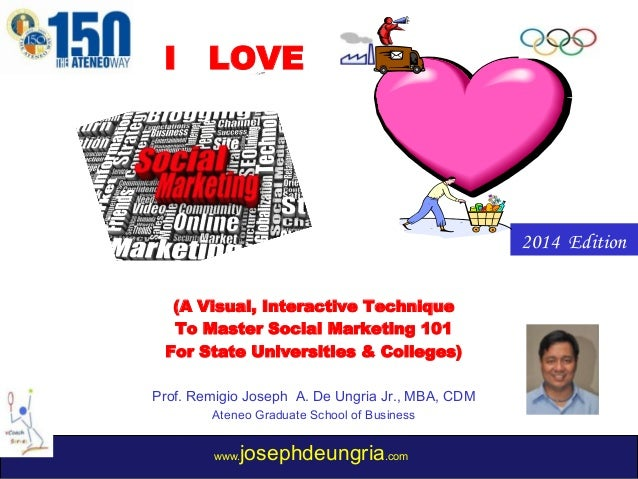 I  LOVE  MODEL (A Visual, Interactive Technique To Master Social Marketing 101 For State Universities & Colleges) Prof. Re...