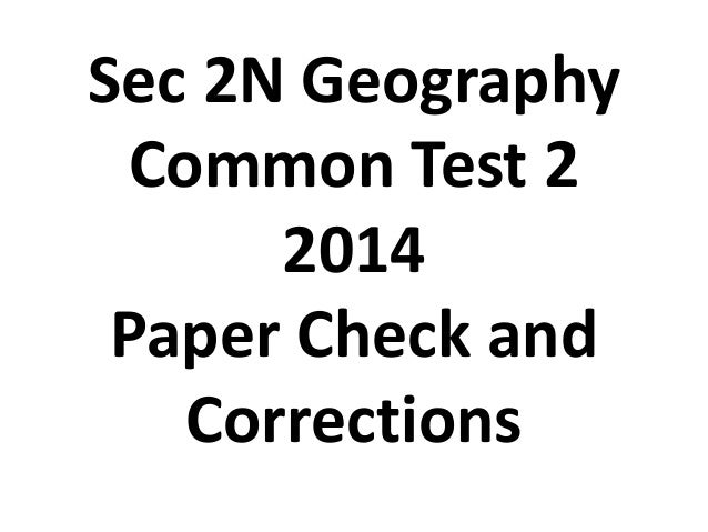 2014 sec 2 n geography ct2 answers