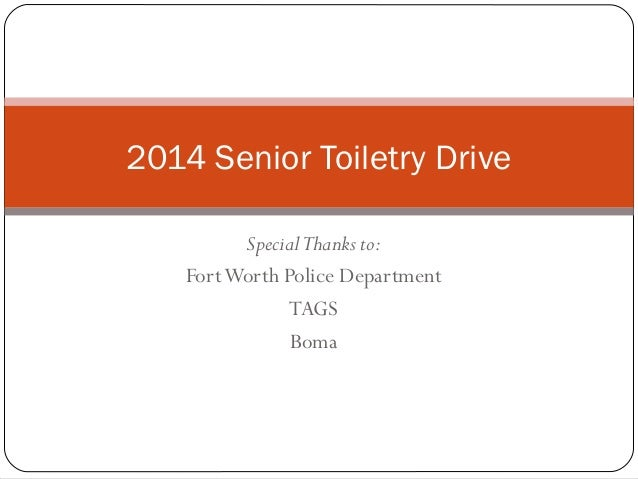 2014 senior toiletry drive