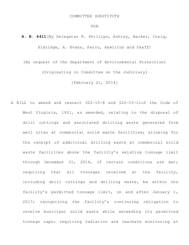 COMMITTEE SUBSTITUTE FOR H. B. 4411(By Delegates R. Phillips, Ashley, Barker, Craig, Eldridge, A. Evans, Ferro, Hamilton a...