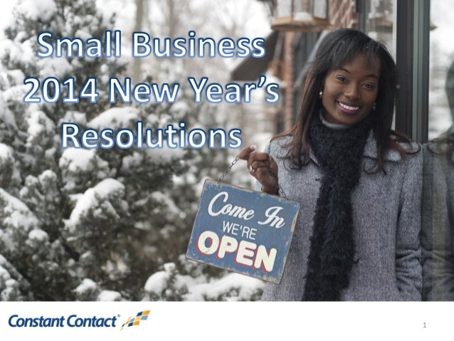 Small Business 2014 New Year's Resolutions