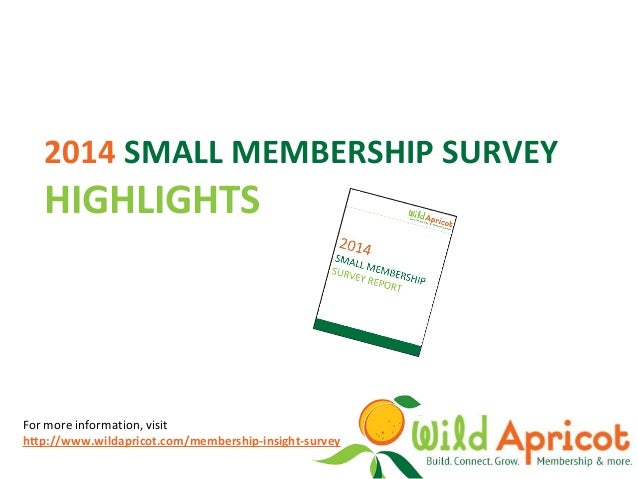 2014 small membership survey presentation