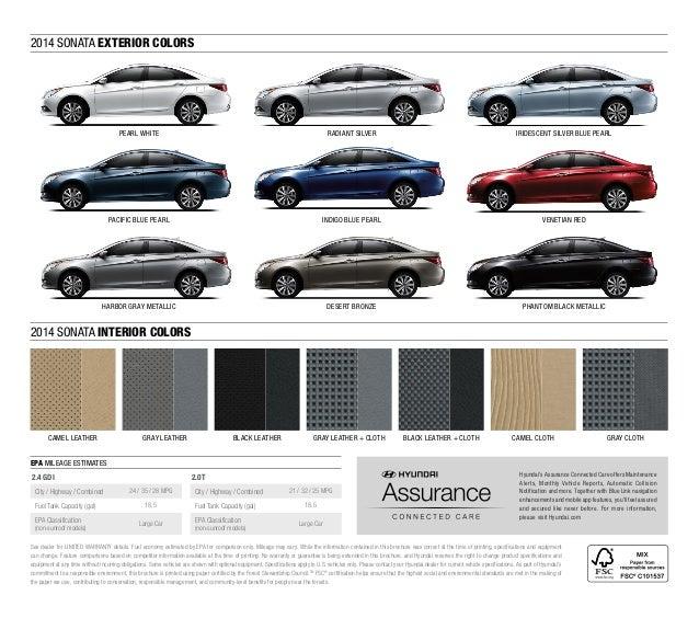 2014 Hyundai Sonata Brochure Glenbrook Hyundai Happy Car