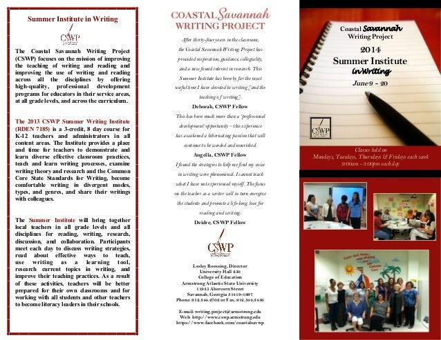 2014 Summer Writing Institute brochure